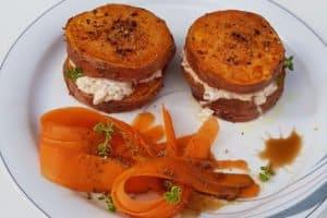 Suesskartoffel-tuermchen